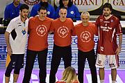 DESCRIZIONE : Pistoia Lega A 2014-2015 Giorgio Tesi Group Pistoia Acea Roma<br /> GIOCATORE : arbitro Lorenzo Dercole Ariel Filloy<br /> CATEGORIA : arbitro pregame fairplay<br /> SQUADRA : arbitro Acea Roma Giorgio Tesi Group Pistoia<br /> EVENTO : Campionato Lega A 2014-2015<br /> GARA : Giorgio Tesi Group Pistoia Acea Roma<br /> DATA : 30/11/2014<br /> SPORT : Pallacanestro<br /> AUTORE : Agenzia Ciamillo-Castoria/GiulioCiamillo<br /> GALLERIA : Lega Basket A 2014-2015<br /> FOTONOTIZIA : Pistoia Lega A 2014-2015 Giorgio Tesi Group Pistoia Acea Roma<br /> PREDEFINITA :