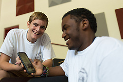 Jacob Salvatore, left, and Khalil Watson participate in Kentucky Boys State at Campbellsville University in Campbellsville, Ky., on Wednesday, June 8. Photo by Jonathan Palmer/The American Legion