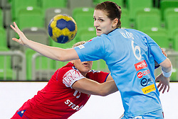 Ana Gros of Slovenia during handball match between Women National Teams of Slovenia and Czech Republic of 4th Round of EURO 2012 Qualifications, on March 25, 2012, in Arena Stozice, Ljubljana, Slovenia. (Photo by Vid Ponikvar / Sportida.com)