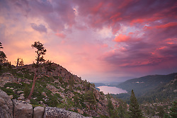 """Donner Lake Sunset 21"" - Photograph of a colorful sunset above Donner Lake in Truckee, California."