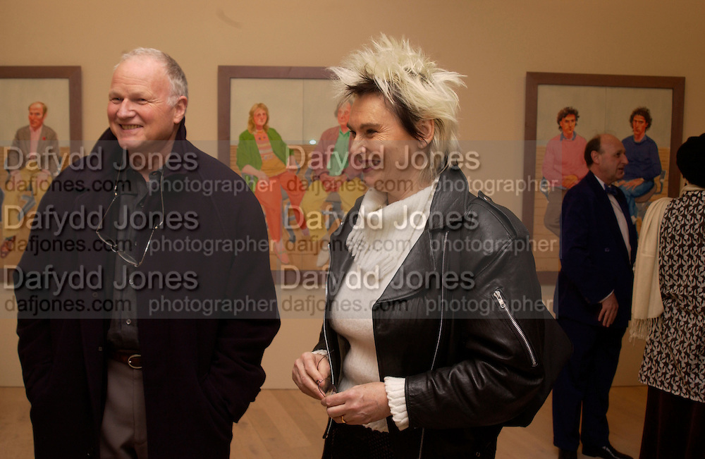 Paul Huxley and Susie Huxley, David Hockney exhibition opening, Annely Juda Gallery. 15 January 2003. © Copyright Photograph by Dafydd Jones 66 Stockwell Park Rd. London SW9 0DA Tel 020 7733 0108 www.dafjones.com