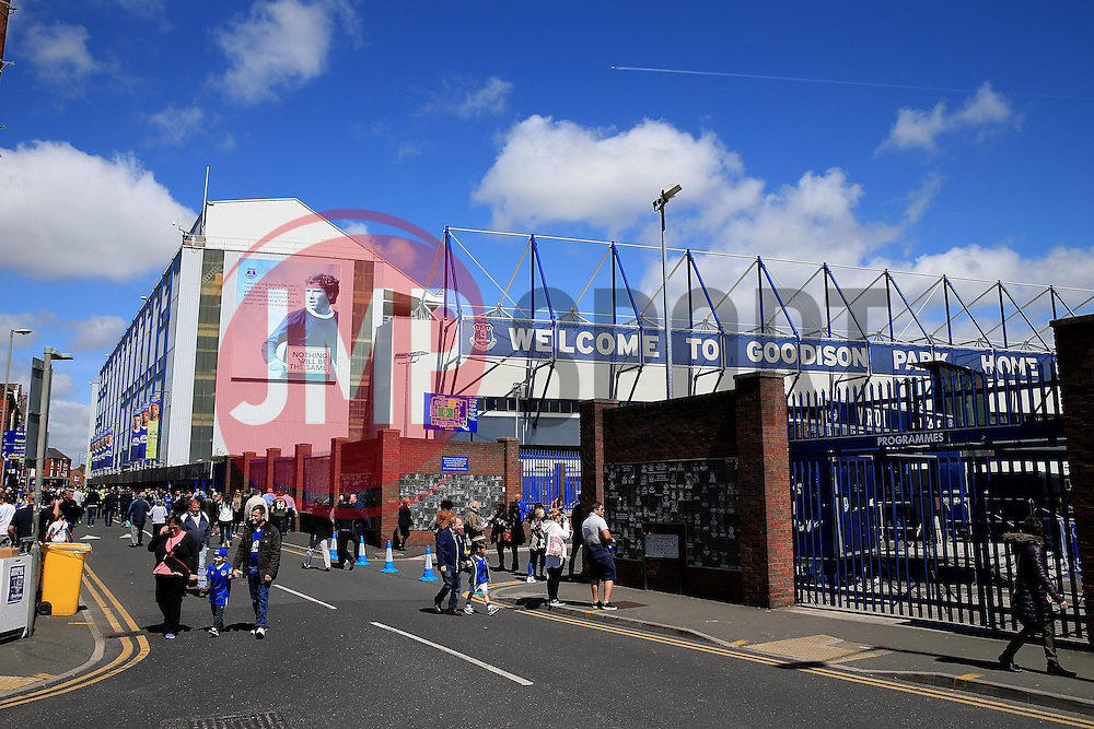 Blue skies above Goodison Park on the final day of the 2015/16 season - Mandatory byline: Matt McNulty/JMP - 15/05/2016 - FOOTBALL - Goodison Park - Liverpool, England - Everton v Norwich City - Barclays Premier League