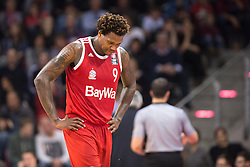 28.03.2016, Telekom Dome, Bonn, GER, Beko Basketball BL, Telekom Baskets Bonn vs FC Bayern Muenchen, 23. Runde, im Bild Deon Thompson (FC Bayen Muenchen #9) // during the Beko Basketball Bundes league 23th round match between Telekom Baskets Bonn and FC Bayern Munich at the Telekom Dome in Bonn, Germany on 2016/03/28. EXPA Pictures © 2016, PhotoCredit: EXPA/ Eibner-Pressefoto/ Schüler<br /> <br /> *****ATTENTION - OUT of GER*****