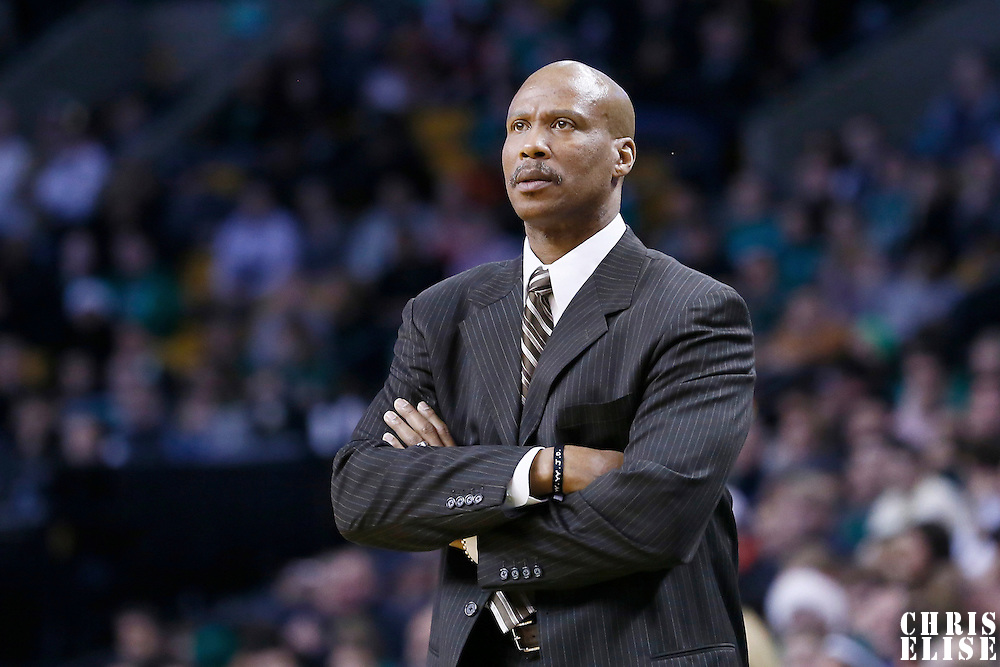19 December 2012: Cleveland Cavaliers head coach Byron Scott is seen during the Boston Celtics 103-91 victory over the Cleveland Cavaliers at the TD Garden, Boston, Massachusetts, USA.