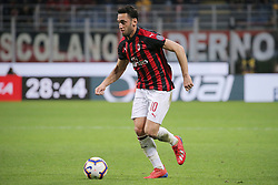 March 2, 2019 - Milan, Milan, Italy - Hakan Calhanoglu #10 of AC Milan in action during the serie A match between AC Milan and US Sassuolo at Stadio Giuseppe Meazza on March 02, 2019 in Milan, Italy. (Credit Image: © Giuseppe Cottini/NurPhoto via ZUMA Press)