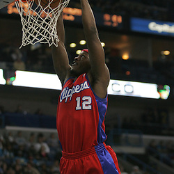 Jan 13, 2010; New Orleans, LA, USA; Los Angeles Clippers forward Al Thornton (12) dunks the ball against the New Orleans Hornets during the second quarter at the New Orleans Arena. Mandatory Credit: Derick E. Hingle-US PRESSWIRE