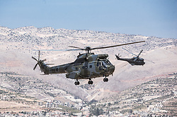 September 30, 2018 - Bekaa Valley, Lebanon - Display of skills and force at the first public Lebanese Airforce open day, held at the Riyak Airbase in the Bekaa Valley. (Credit Image: © Elizabeth Fitt/SOPA Images via ZUMA Wire)