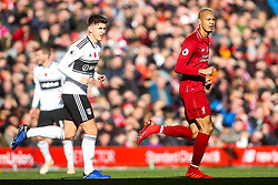 Fabinho of Liverpool and Tom Cairney of Fulham - Mandatory by-line: Robbie Stephenson/JMP - 11/11/2018 - FOOTBALL - Anfield - Liverpool, England - Liverpool v Fulham - Premier League