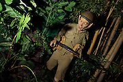 Images of Singapore. Jungle warfare. British WW2 soldier.