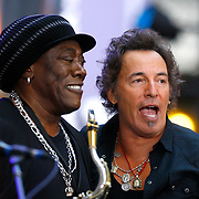 Sept. 27, 2007 - New York City, NY: Clarence Clemons and Bruce Springsteen performing during NBC's The Today Show.