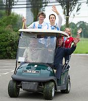 DEN HAAD - Site Event World Cup Hockey . Ex international Karel Klaver met zijn team. tijdens NK Hockeygolf op de Rijswijkse Golfclub  FOTO KOEN SUYK