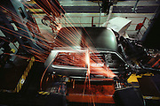 Robotic welders at the Fiat car factory, Turin, Italy. Called Robogate in the 1980's.