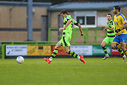 Forest Green Rovers Christian Doidge(9) passes the ball during the Vanarama National League match between Forest Green Rovers and Torquay United at the New Lawn, Forest Green, United Kingdom on 1 January 2017. Photo by Shane Healey.