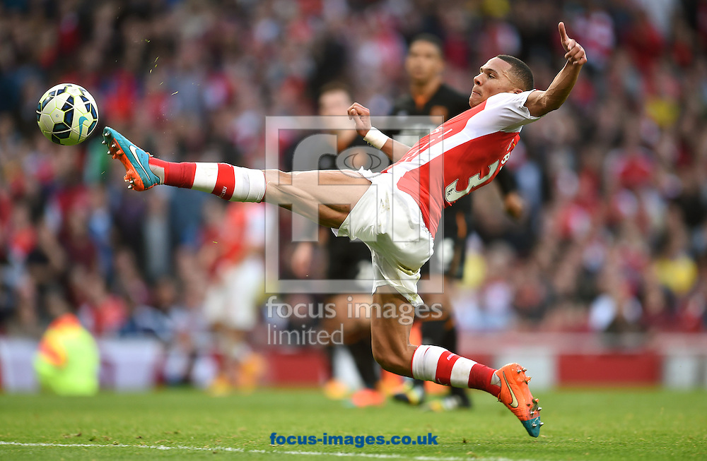 Kieran Gibbs of Arsenal during the Barclays Premier League match against Hull City at the Emirates Stadium, London<br /> Picture by Andrew Timms/Focus Images Ltd +44 7917 236526<br /> 18/10/2014