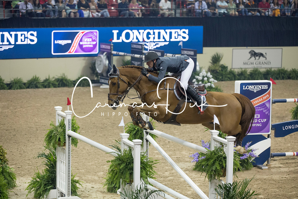 Staut Kevin, (FRA), Qurack de Falaise HDC<br /> Longines FEI World Cup&trade; Jumping Final III round 1<br /> Las Vegas 2015<br />  &copy; Hippo Foto - Dirk Caremans<br /> 19/04/15
