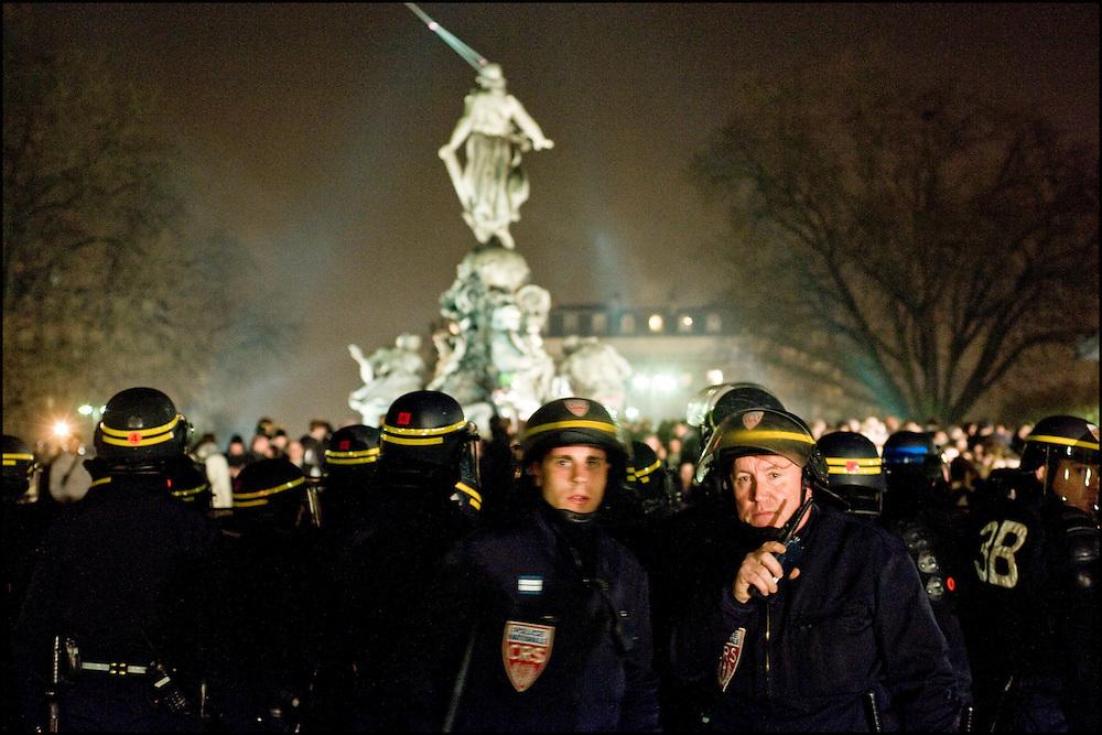 Manifestation place de la nation, Paris le 19 Mars 2009..© Benjamin Girette/IP3 press