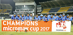 September 3, 2017 - Colombo, Sri Lanka - The Indian team pose for a group photograph after winning the ODI series against the host Sri Lanka by 5-0 after the 5th and final One Day International cricket match between Sri Lanka and India at the R Premadasa international cricket stadium at Colombo, Sri Lanka on Sunday 3 September 2017. (Credit Image: © Tharaka Basnayaka/NurPhoto via ZUMA Press)