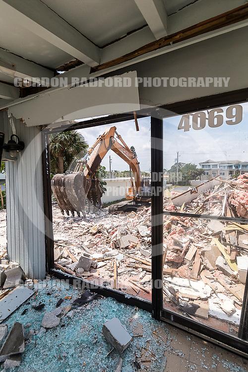 Ice Cream Shop on Ocean Drive is demolished on  4/4/2017.