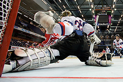 Jozef Ondrejka of Slovakia covers the net at IIHF In-Line Hockey World Championships qualification match between National teams of Germany and Great Britain on July 1, 2010, in Karlstad, Sweden. (Photo by Matic Klansek Velej / Sportida)