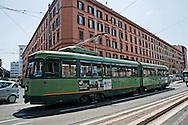 Roma 25 Maggio 2012.Il tram in via Prenestina.