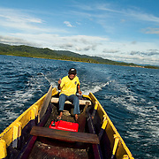 Yellow boat. San Blas, Panama