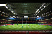 General view of the stadium before the European Challenge Cup match between Ospreys and Stade Francais at Principality Stadium, Cardiff, Wales on 2 April 2017. Photo by Andrew Lewis.