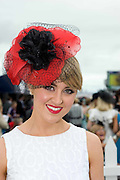 Finalist in the Anthony Ryan best dressed competition Caoimhe Ryan  from Limerick at Ladies day of the Galway Races in Ballybrit. Photo:Andrew Downes