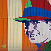 painting of Carlos Gardel, most famous Tango singer, in his native barrio Abasto in Buenos Aires