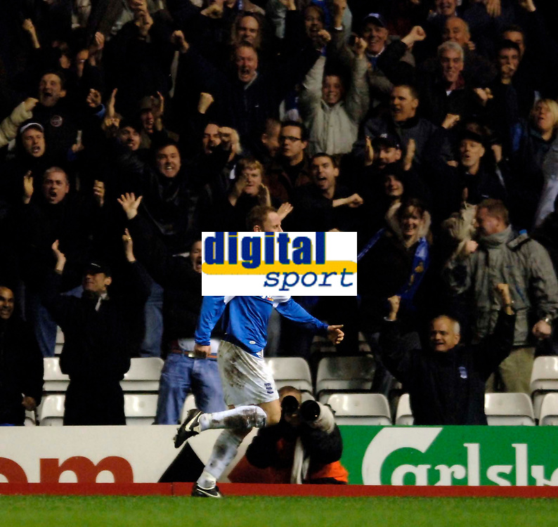 Photo: Glyn Thomas.<br />Birmingham City v Blackburn Rovers. The Barclays Premiership. 19/04/2006.<br /> Birmingham's Nicky Butt celebrates after giving his team a 1-0 lead.