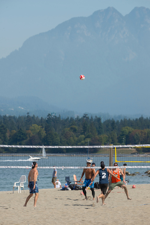Canada, British Columbia, Vancouver ,English Bay, Kitsilano Beach, University Peninsula, beach volleyball