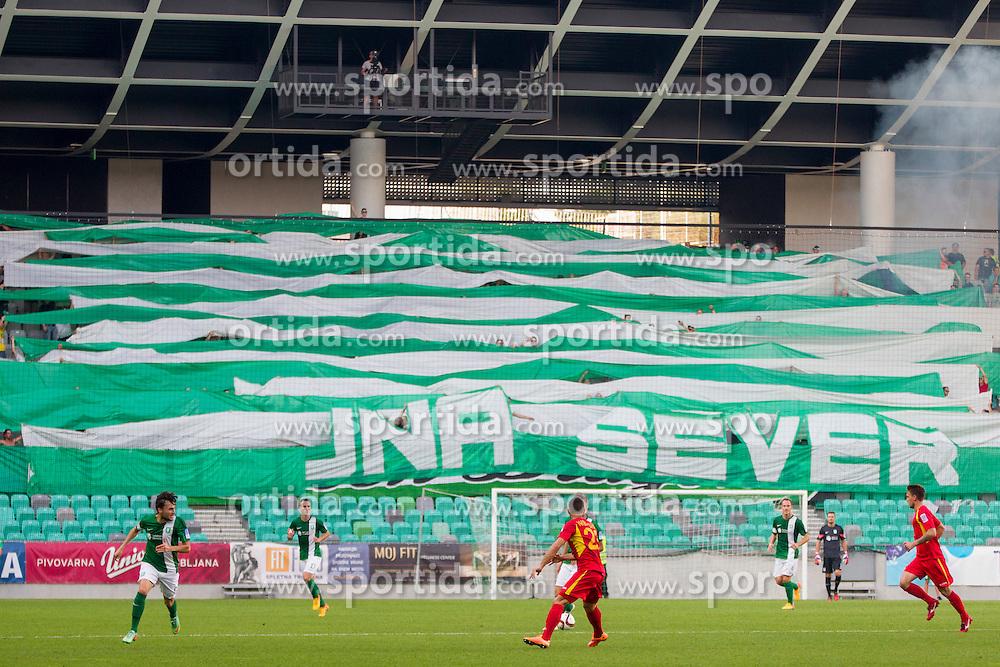 Transparent during football match between NK Olimpija Ljubljana and NK Rudar Velenje in 8th Round of Prva liga Telekom Slovenije 2015/16, on August 30, 2015 in SRC Stozice, Ljubljana, Slovenia. Photo by Urban Urbanc / Sportida