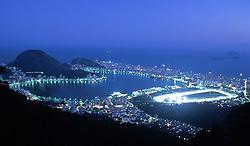 Rio de Janeiro. Lagoa Rodrigo de Freitas e Joquei Clube / Rio de Janeiro. Rodrigo de Freitas Pound and Jockey Club