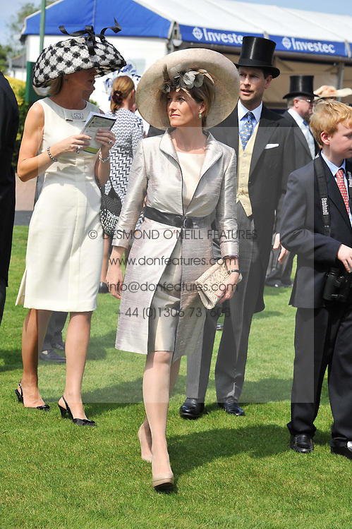 HRH the COUNTESS OF WESSEX at the Investec Derby at Epsom Racecourse, Epsom Downs, Surrey on 4th June 2011.