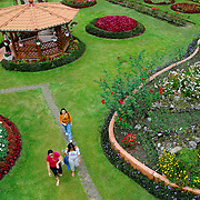 """Town, of Boquete, Province of Chiriqui, country of Panama. """"Mi Jardin es tu Jardin"""" (My Garden is Your Garden) is the best example of the flowers and gardens of Boquete.  Created on a private property,  it is very popular among locals and tourists."""