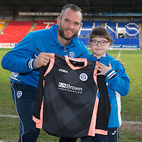 St Johnstone Painting Competition Winners....20.12.14   <br /> Alan Mannus pictured with overall winner Hope<br /> Picture by Graeme Hart.<br /> Copyright Perthshire Picture Agency<br /> Tel: 01738 623350  Mobile: 07990 594431