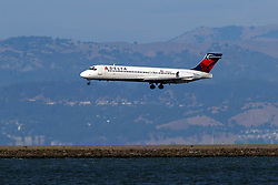 Boeing 717-2BD (N944AT) operated by Delta Air Lines landing at San Francisco International Airport (KSFO), San Francisco, California, United States of America