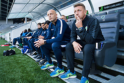 Slobodan Gubor, Zoran Barisic during football match between NK Olimpija Ljubljana and Aluminij in Round #9 of Prva liga Telekom Slovenije 2018/19, on September 23, 2018 in Stozice Stadium, Ljubljana, Slovenia. Photo by Morgan Kristan