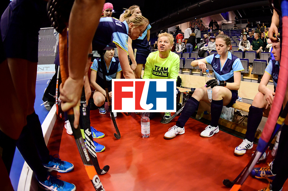 BERLIN - Indoor Hockey World Cup<br /> Women: Ukraine - Australia<br /> foto: MAKAIEVA Svitlana.<br /> WORLDSPORTPICS COPYRIGHT FRANK UIJLENBROEK