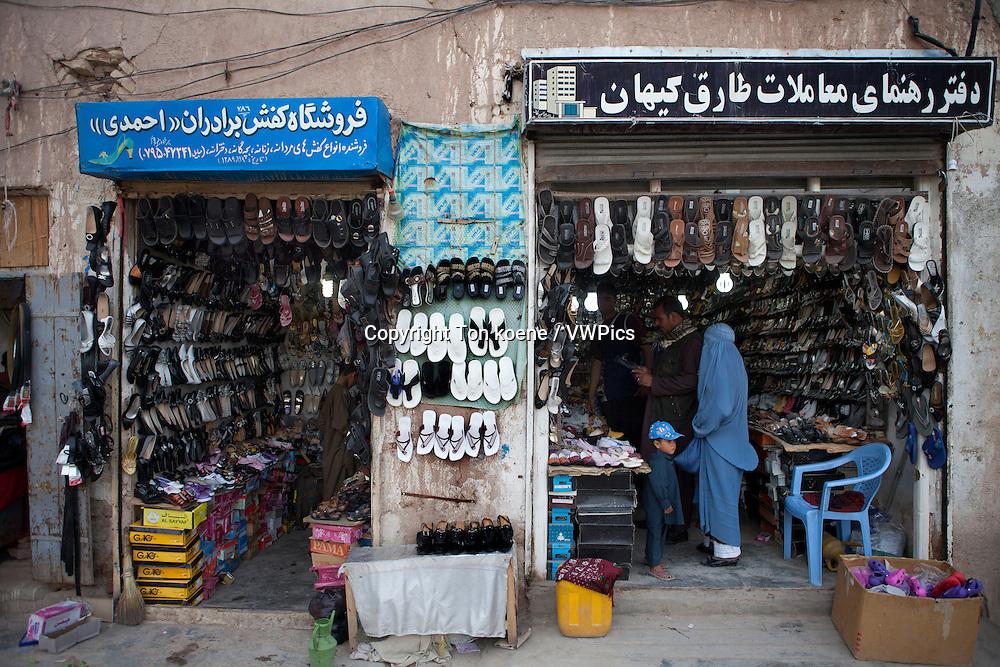 shoeshop in herat, Afghanistan