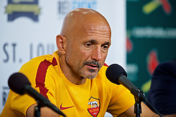 ST. LOUIS, USA - Monday, August 1, 2016: AS Roma's Luciano Spalletti during a post-match press conference following the 2-1 victory over Liverpool during a pre-season friendly game on day twelve of the club's USA Pre-season Tour at the Busch Stadium. (Pic by David Rawcliffe/Propaganda)