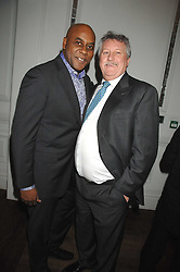 Left to right, chefs AINSLEY HARRIOTT and BRIAN TURNER  at a party to promote The Landau at The Langham, Portland Place, London W1 on 7th February 2008.<br />