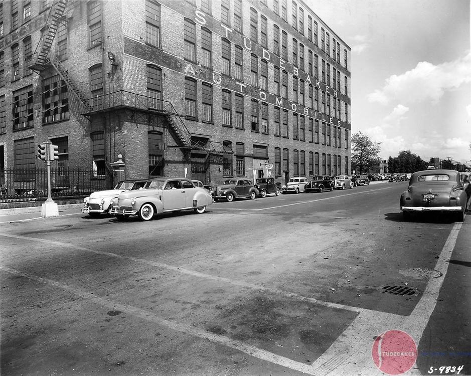 Studebaker's Salvage Building is shown here in this 1941 image. This building later housed the Standard Surplus/ Newman & Altman parts business.