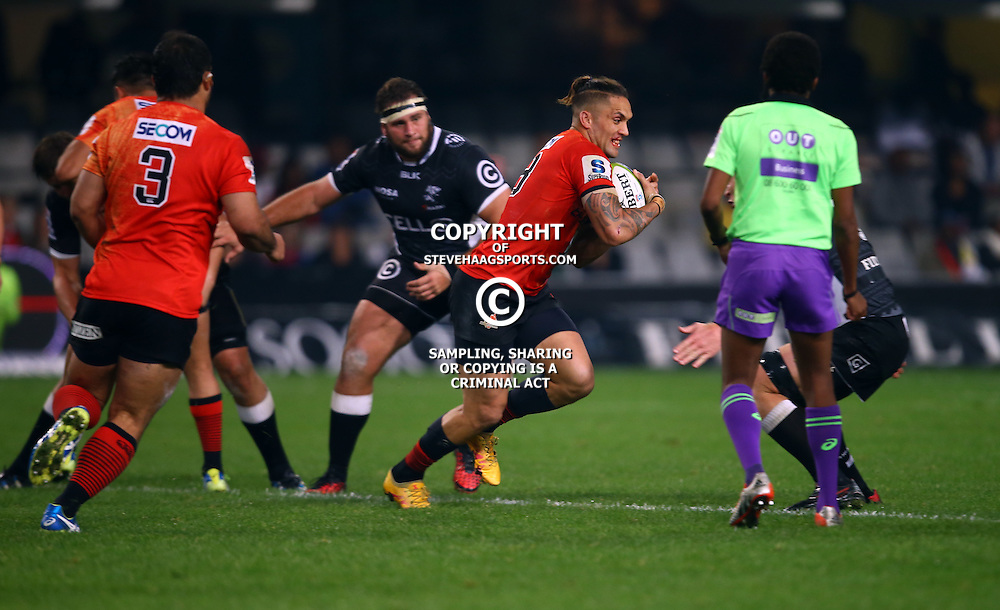 DURBAN, SOUTH AFRICA - JULY 15: Derek Carpenter of the Sunwolves during the Super Rugby match between the Cell C Sharks and Sunwolves at Growthpoint Kings Park on July 15, 2016 in Durban, South Africa. (Photo by Steve Haag/Gallo Images)