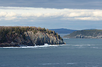 Long Porcupine Island, with Bald Porcupine at right and the Schoodic Pennisula in the distance, Acadia National Park, Maine