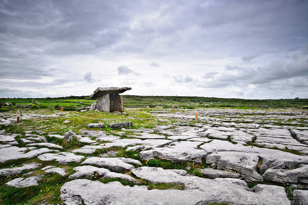 Poulnabrone Dolmen in the Burren area of Co. Clare, Ireland
