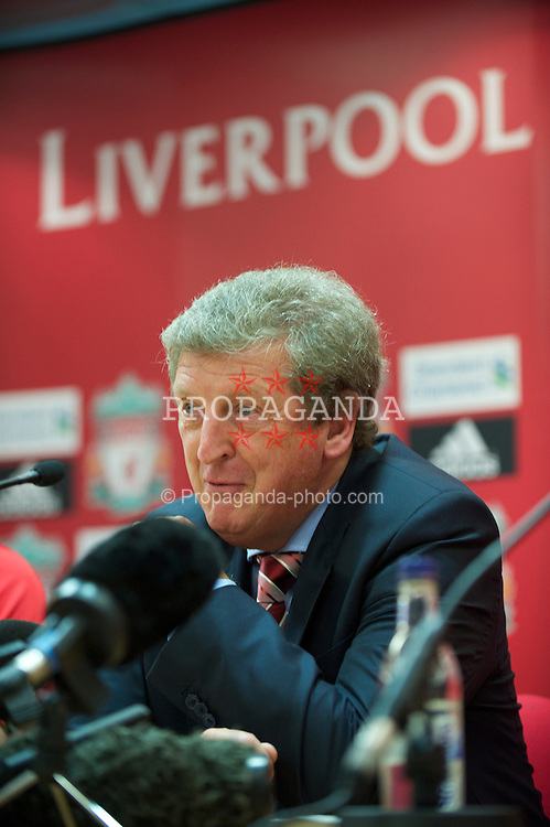LIVERPOOL, ENGLAND - Tuesday, July 27, 2010: Liverpool FC's manager Roy Hodgson during a press conference at Anfield. (Pic by David Rawcliffe/Propaganda)