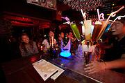 Huhai and Qianhai Lake nightlife district. Chinese guests having fun at Alpha & Omega Club.