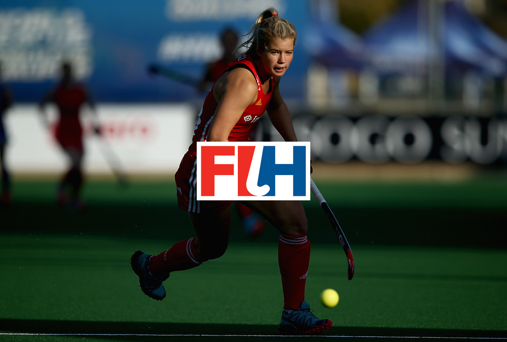 JOHANNESBURG, SOUTH AFRICA - JULY 12: Sophie Bray of England in action during day 3 of the FIH Hockey World League Semi Finals Pool A match between Japan and England at Wits University on July 12, 2017 in Johannesburg, South Africa. (Photo by Jan Kruger/Getty Images for FIH)