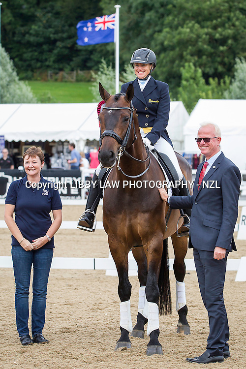 NZL-Vanessa Way (DON ARCHIE) FINAL-3RD: Dressage Delux FEI CDI Intermediate I: 2014 GBR-Hartpury Festival Of Dressage:  (Saturday 12 July) CREDIT: Libby Law COPYRIGHT: LIBBY LAW PHOTOGRAPHY - NZL