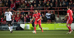WREXHAM, WALES - Wednesday, March 20, 2019: Wales' captain Ashley Williams during an international friendly match between Wales and Trinidad and Tobago at the Racecourse Ground. (Pic by Laura Malkin/Propaganda)